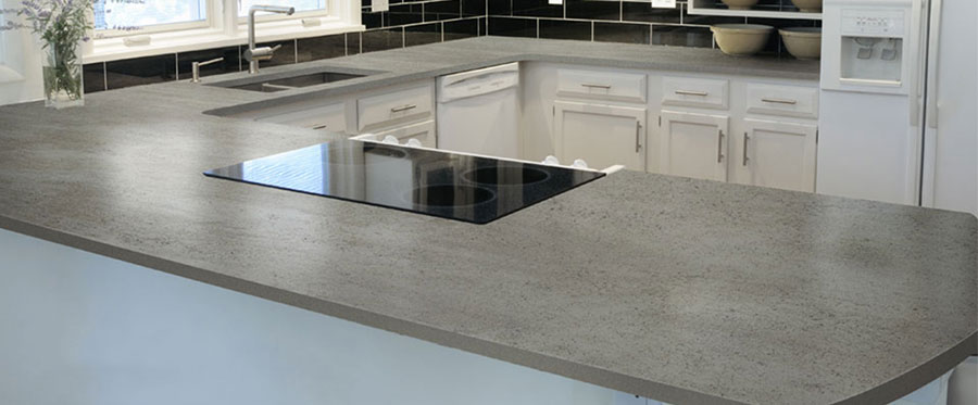 Recycled quartz counter top