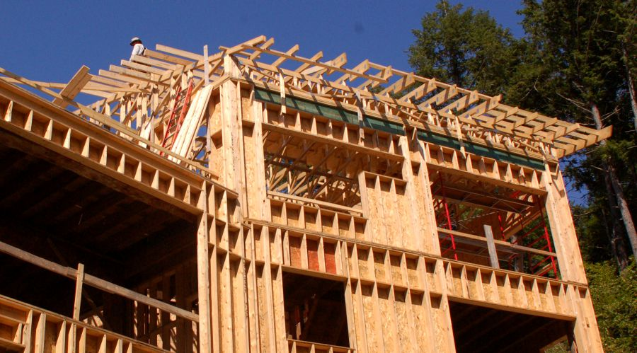 Interior Sheathing Wood Frame Construction Green Home