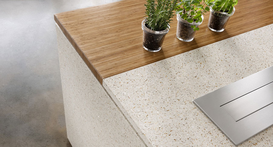 Recycled Aluminum Countertops : Kitchen counter options durable and healthy green home