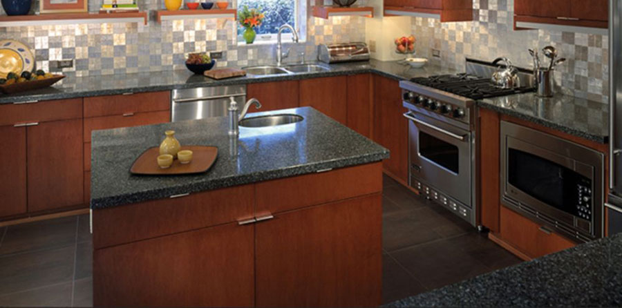 Recycled aluminum counter top