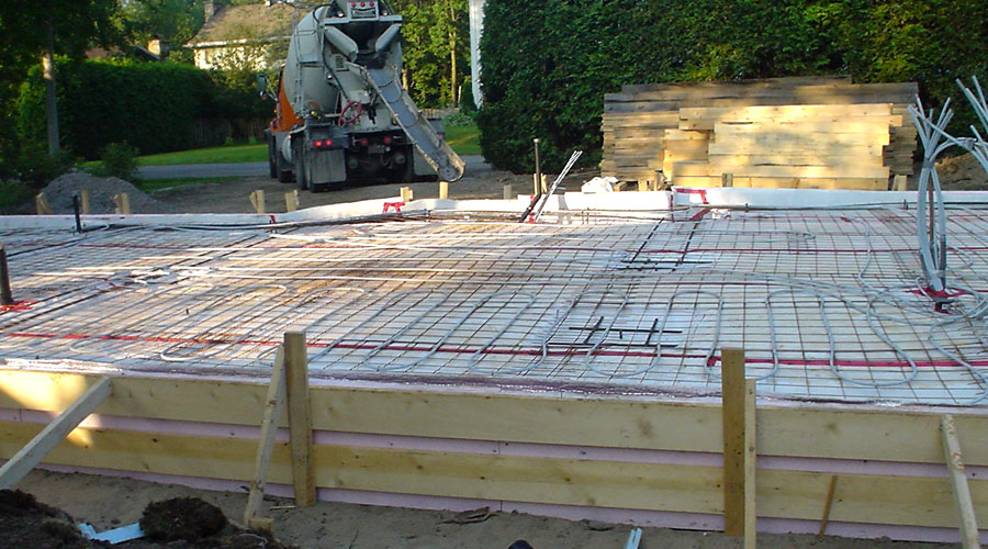 Step by step guide for how to build a slab on grade for Steps to building a new home