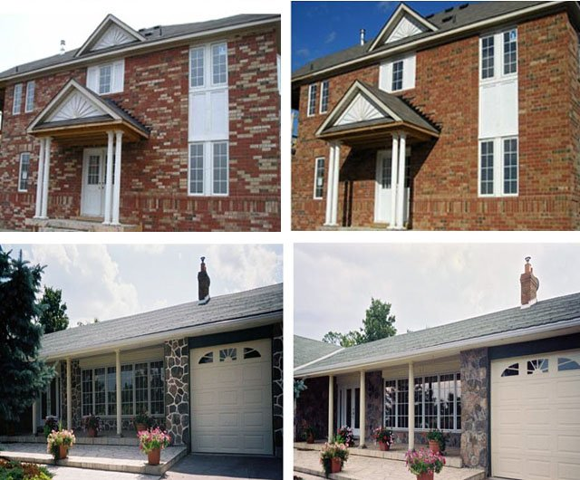 Refinishing bricks and masonry - before and after