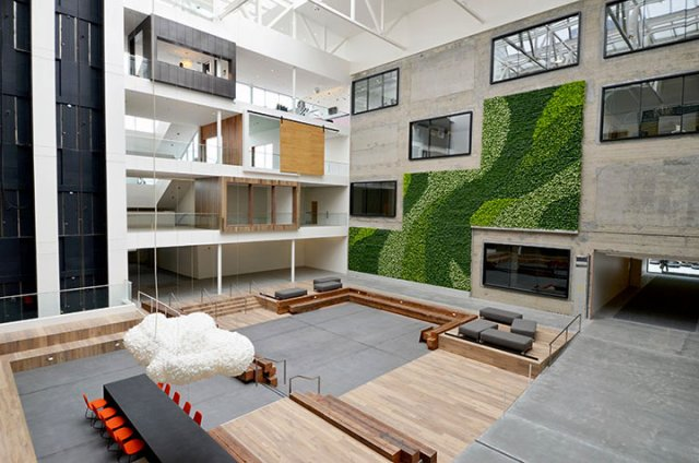 3-story vertical garden plant wall