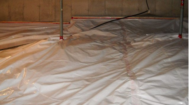 Removing radon gas from basements and crawlspaces
