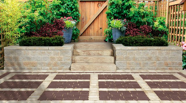 Water-permeable landscaping surfaces