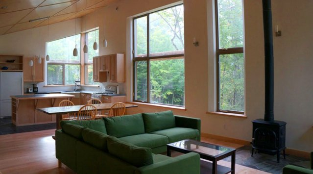 Off grid and passively heated, this house in Low, Quebec is aiming for LEED certification