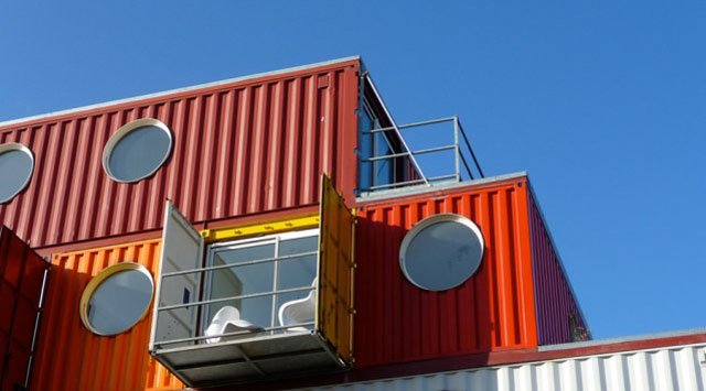 Container houses :  modern looking, compact and recycled, but are they green?