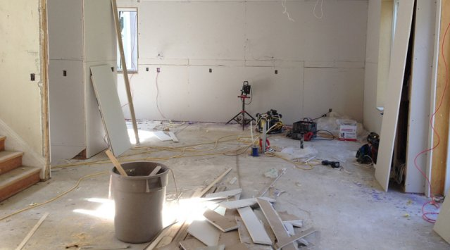 Drywall and construction dust