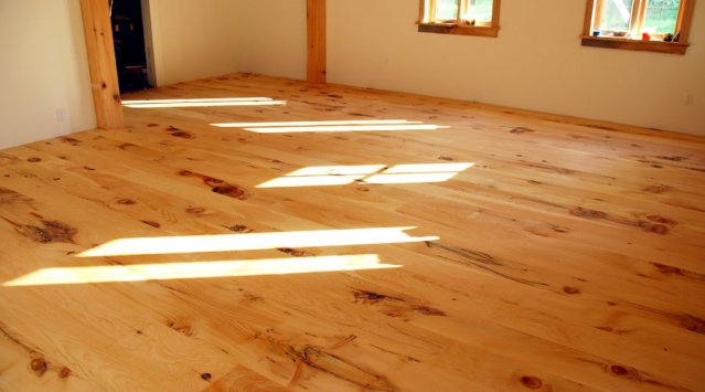 White Pine Floors Finished With Rubio Monocoat, A Zero VOC Durable Oil.