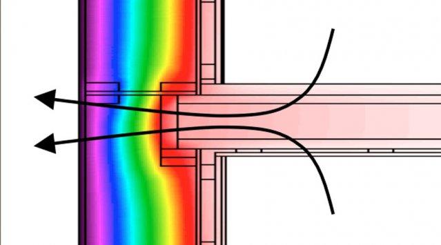Energy modeling simulation of heat loss through thermal bridging
