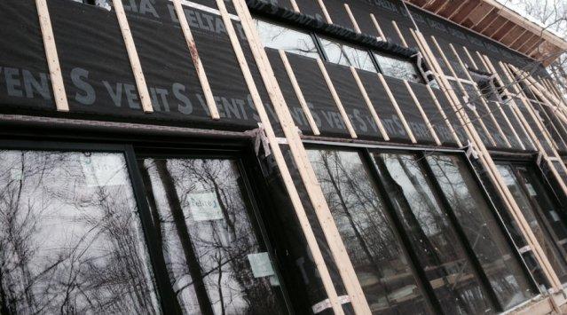 Triple pane south facing windows on Ecohome's Demo House