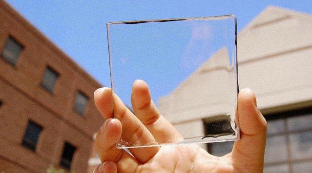 Transparent solar power producing windows