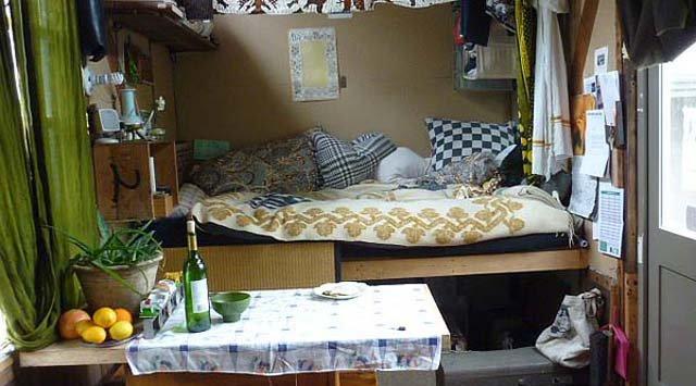 Jenine Alexander's homemade mobile tiny house