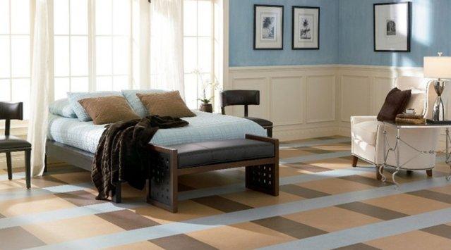 Marmoleum is a non-toxic eco choice for flooring