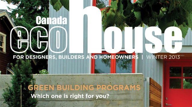 EcoHouse Canada magazine cover