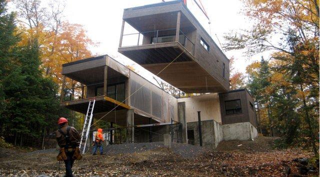 LEED Platinum prefabricated home