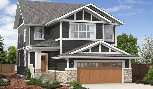 Artistic rendition of one of the pre-fab net zero homes, Alberta