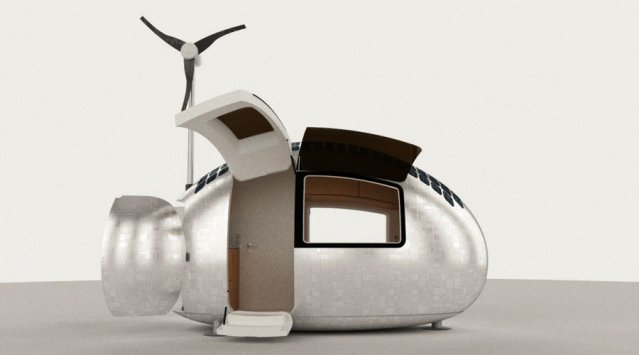 The off-grid Ecocapsule accessory dwelling unit