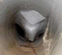 Collapsed duct