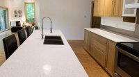 Recycled quartz countertop