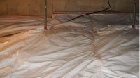 Crawlspace radon barrier