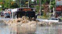Flooded streets Calgary Alberta