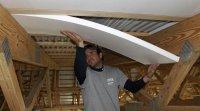 Installing foam panels in ceiling