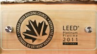 Leed platinum plaque