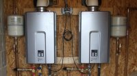 Gas powered tankless water heaters