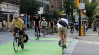 Bike lanes in Downtown Vancouver