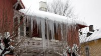Icicles are an indication of heat loss, which can cause damage to insulation