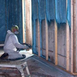 Spray foam on basement walls