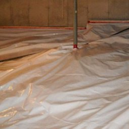 Crawlspace vapour barrier