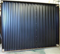 Corrugated metal solar heater