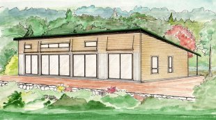 Rendering of the Ecohome demonstration house