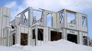A building made from K-Tect's foam and steel structural insulated panels