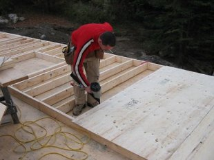 Conventional wood framing