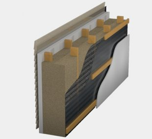 Dense pack cellulose wall