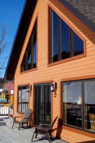 Passive solar home in Wakefield Quebec