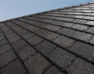 Recycled tire rubber roofing