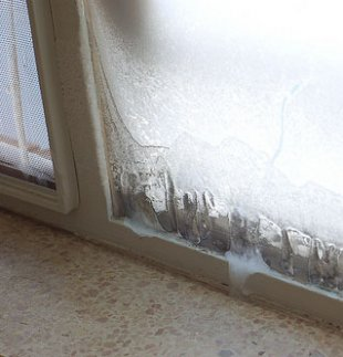 Condenstaion causing ice on windows