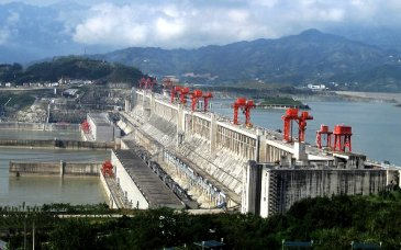 A section of China's 3 gorges dam