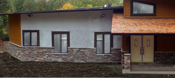 Straw bale sips from nature built wall systems ecohome for Straw bale house cost per square foot