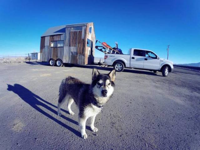 Legendary snowboarders Tiny House on wheels.