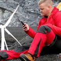 Trinity portable wind turbine for charging devices
