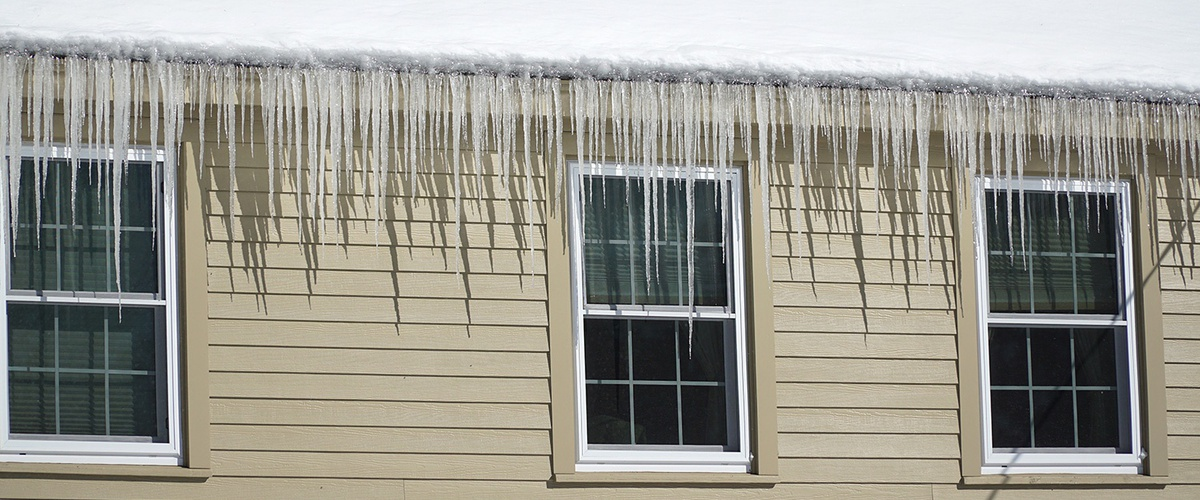 Icicles are an indication of heat loss, which can cause damage to insu