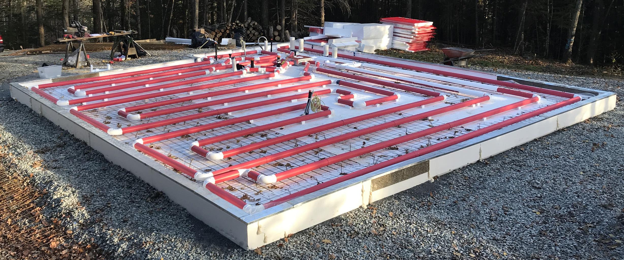 Solar Radiant Heated Floor Kit Slab On Grade For Leed Pive