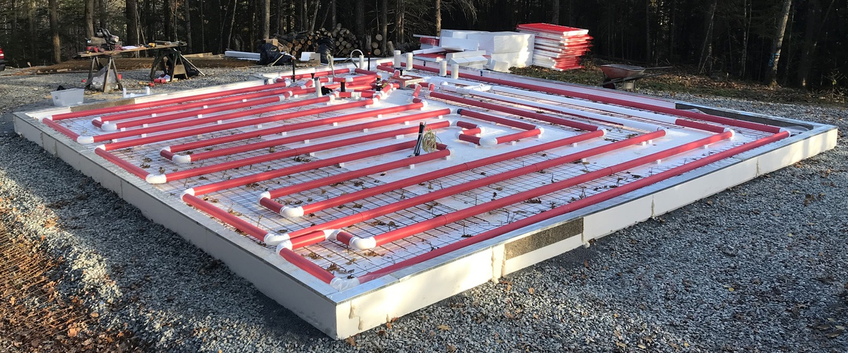 Solar Radiant Heated Floor Kit Slab