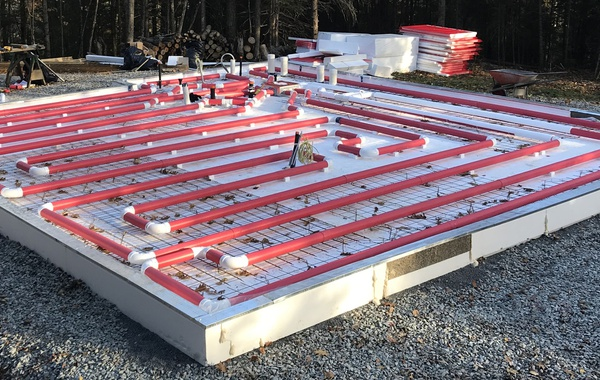 Solar Radiant Heated Floor Slab Kit