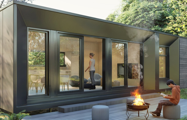 The Affordable Architect-Designed Modern Green prefab 2 Bed kit home